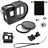 ASOCEA Aluminum Alloy Thick Solid New Version Cage Protective Frame Housing Case Mount 52mm UV Filter Compatible Gopro Hero 6/Hero 5
