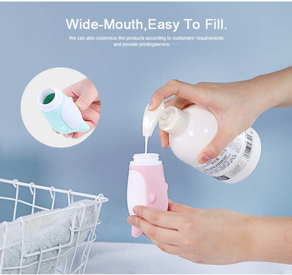Chonor 3PCS 89ML Adorabile Balena Bottiglie da Viaggio Silicone portatile Sacchetto Portaoggetti,ecc Senza BPA Balsamo Riutilizzabili e Comprimibili Contenitori Lozione per Shampoo Crema