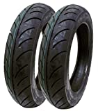 SET OF TWO: Scooter Tire 90/90-12 Front or Rear Tubeless Type DOT 12'' Rim