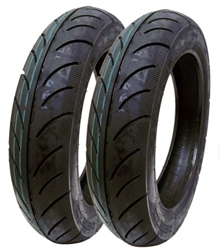 SET OF TWO: Scooter Tire 90/90-12 Front or Rear Tubeless Type DOT 12