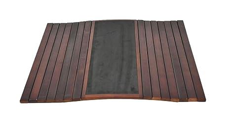 Amazon.com: Bandeja de madera sofá brazo flexible mesa – por ...