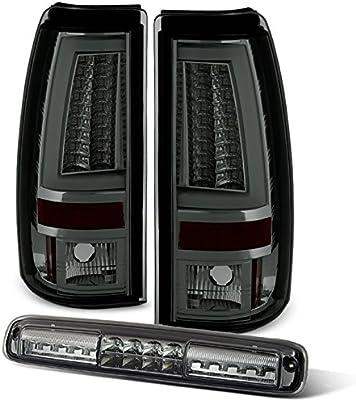 For Led Set 03 06 Chevy Silverado Gmc Sierra C Shape Light Tube Smoked Tail Light 3rd Brake Lamp