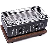 JVSISM Japanese Korean BBQ Grill Oven Aluminium Alloy Charcoal Grill Portable Party Accessories Household Barbecue Tools