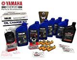 YAMAHA OEM 2005+ F250A F250B 3.3L V6 Oil Change 10W30 FC 4M Lower Unit Gear Lube Drain Fill Gaskets NGK Spark Plugs LFR6A-11 Primary Fuel Filter Maintenance Kit