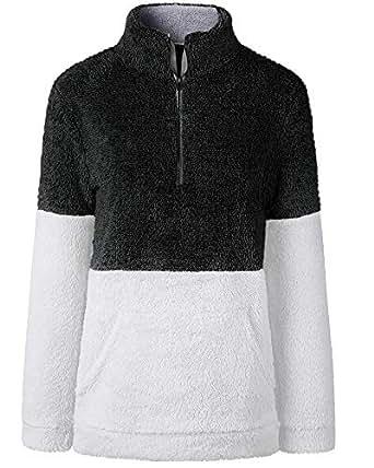 Fuzzy Jacket Fleece Pullover Coat Faux Fur Jacket Plus