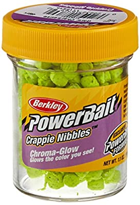 Berkley 1116848 PowerBait Crappie Nibbles Glow Chartreuse Fishing Lure