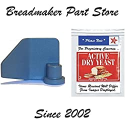 New Kneading Paddle Fits Breadman Model TR-700C Kneader Blade TR-700-C Part TR700-C Breadmaker Spare Replacement Part Peice Bread Maker Machine [Kneader/Yeast Bundle]