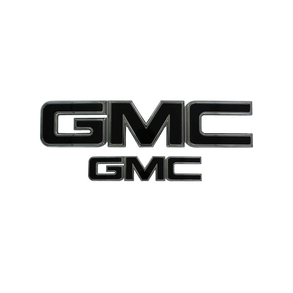 All Sales 96515KC AmiGMC Grille and Lift Gate Emblem Chrome//Black Powder Coat