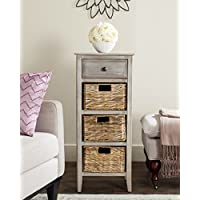 Safavieh American Homes Collection Michaela Vintage White Side Table