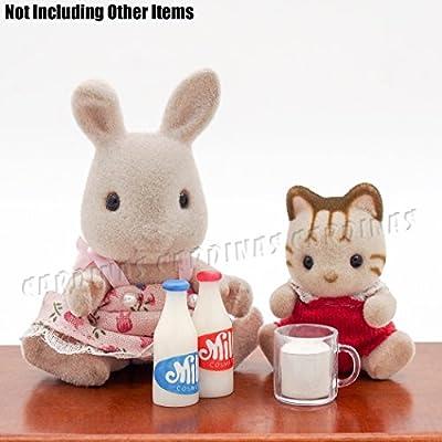 Odoria 1//12 Miniatura 2PZ Milk Botella Rojo y Azul Cocina Accesorio para Casa de Mu/ñecas