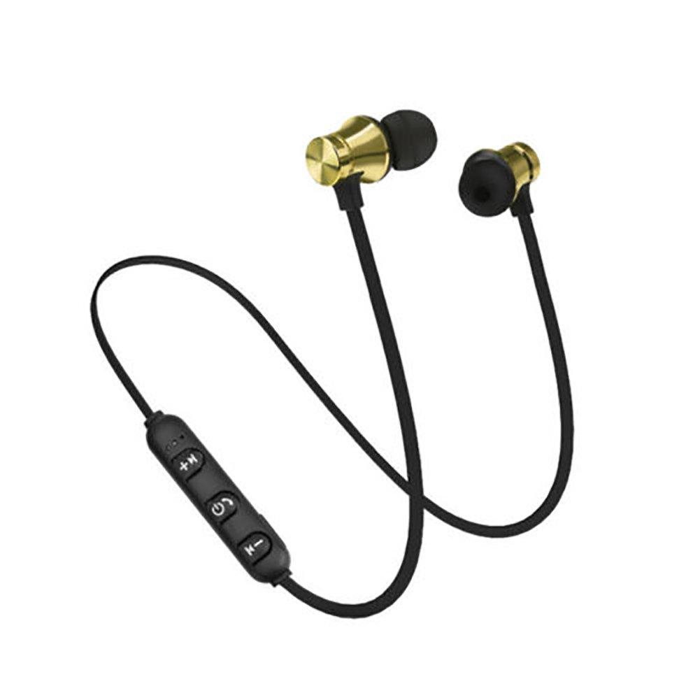 uniqueaur - Auriculares magnéticos Bluetooth inalámbricos con micrófono Dorado Dorado: Amazon.es: Informática
