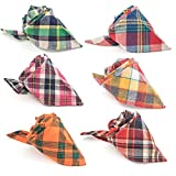 Pet Dog Bandana, 6 PCS Triangle Bibs Pet Dog Cat Kerchief Neckerchief Set Accessories for Small to Large Dogs Cats Pets
