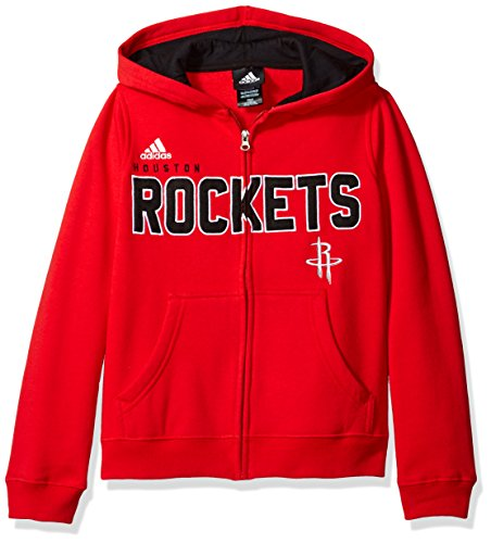 11 Houston Rockets Jersey (NBA Youth 8-20 Houston Rockets Stated Full Zip Hoodie -Black-M(10-12))
