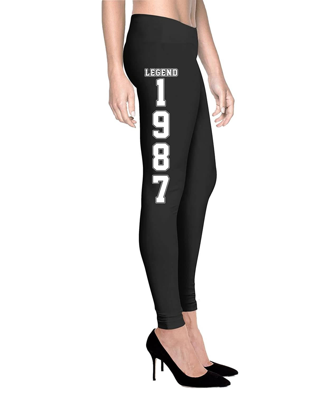 Gearbubble Legend Are Born In 1987 - Women Comfort Fit Legging - Black