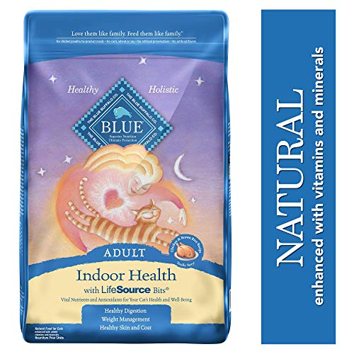 Blue Buffalo Indoor Health Natural Adult Dry Cat Food, Chicken & Brown Rice 15-lb