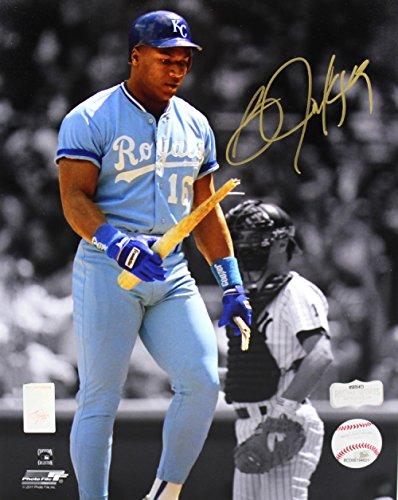 Bo Jackson Autographed/Signed Kansas City Royals Iconic 8x10 MLB Photo Autographed Bo Jackson Photograph