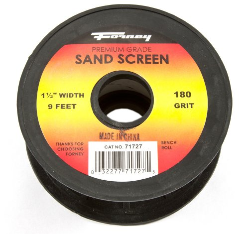 Forney 71727 Sand Screen, 180-Grit, 1-1/2-Inch-by-9-Foot Roll ()