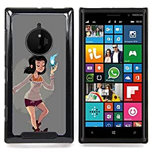 - Girl Magical Spiritual Power Cartoon Comic/ Duro Snap en el tel????fono celular de la cubierta - Cao - For Nokia Lumia 830