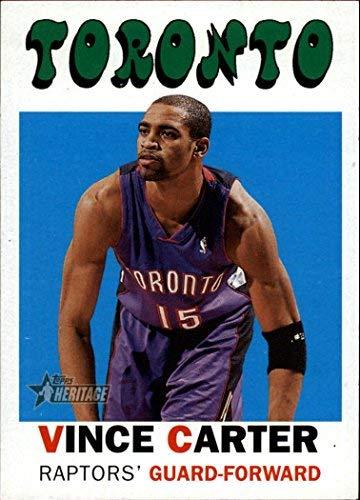 2000-01 Topps Heritage #18 Vince Carter NBA Basketball Trading Card ()