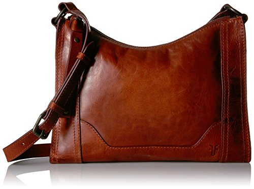 FRYE Melissa Zip Leather Crossbody Bag, Red Clay, One (Boutique Purse Bag)