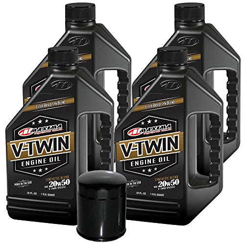 MaximaHiflofiltro VTEOCK19 Synthetic Blend Engine Oil Change Kit for Harley Davidson Sportster V-Twin - 4 Quart