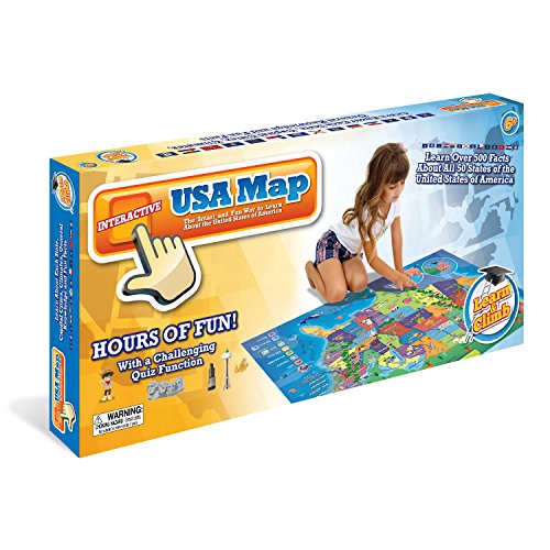 Electronic Kids Map of the United States – 500 Educational Facts & Quizzes About USA 50 States