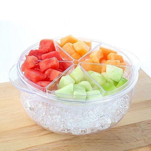 - TravenPal Acrylic Salad And appetizer Chilled Condiment Server 9 Peice set