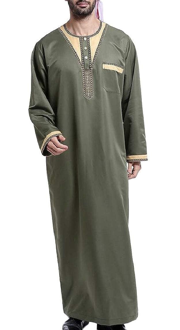 0057a0ba6 3 3 3 QD-CACA Men Thobe Thoub Abaya Robe Dishdasha Islamic Arab ...