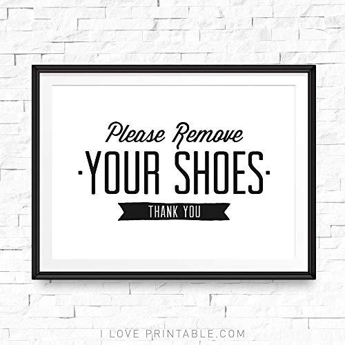 Dozili Please Remove Your Shoes Printable Take Shoes Off Sign Shoe Off Sign Shoes Off Print Shoes Off Please Shoes Off Printable (Please Take Off Your Shoes Sign Printable)
