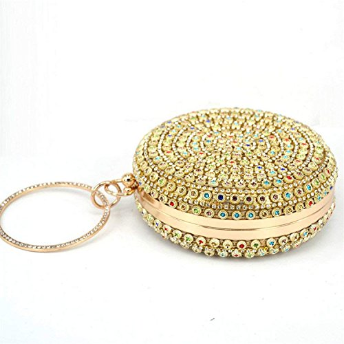 Female Round Clutch Purse Circular Soiree Bag Silver Bag Rising Designer Ladies Wedding Party Women ONCharacter Wallet Evening zxP1wS