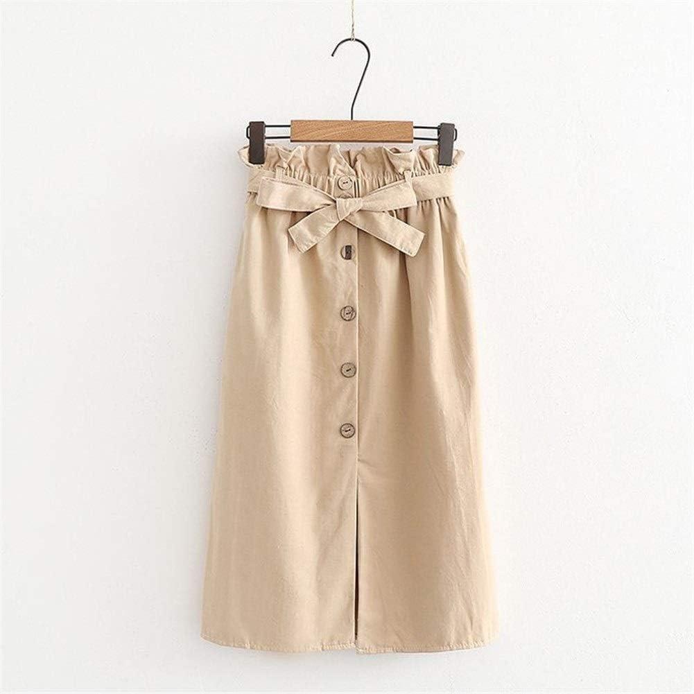 Haucalarm Falda de cintura alta para mujer con botones 1 85 ...