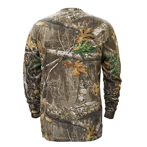 (Staghorn Realtree Men's All Over Camo Long Sleeve Tee-Shirt, Edge, X-Large)
