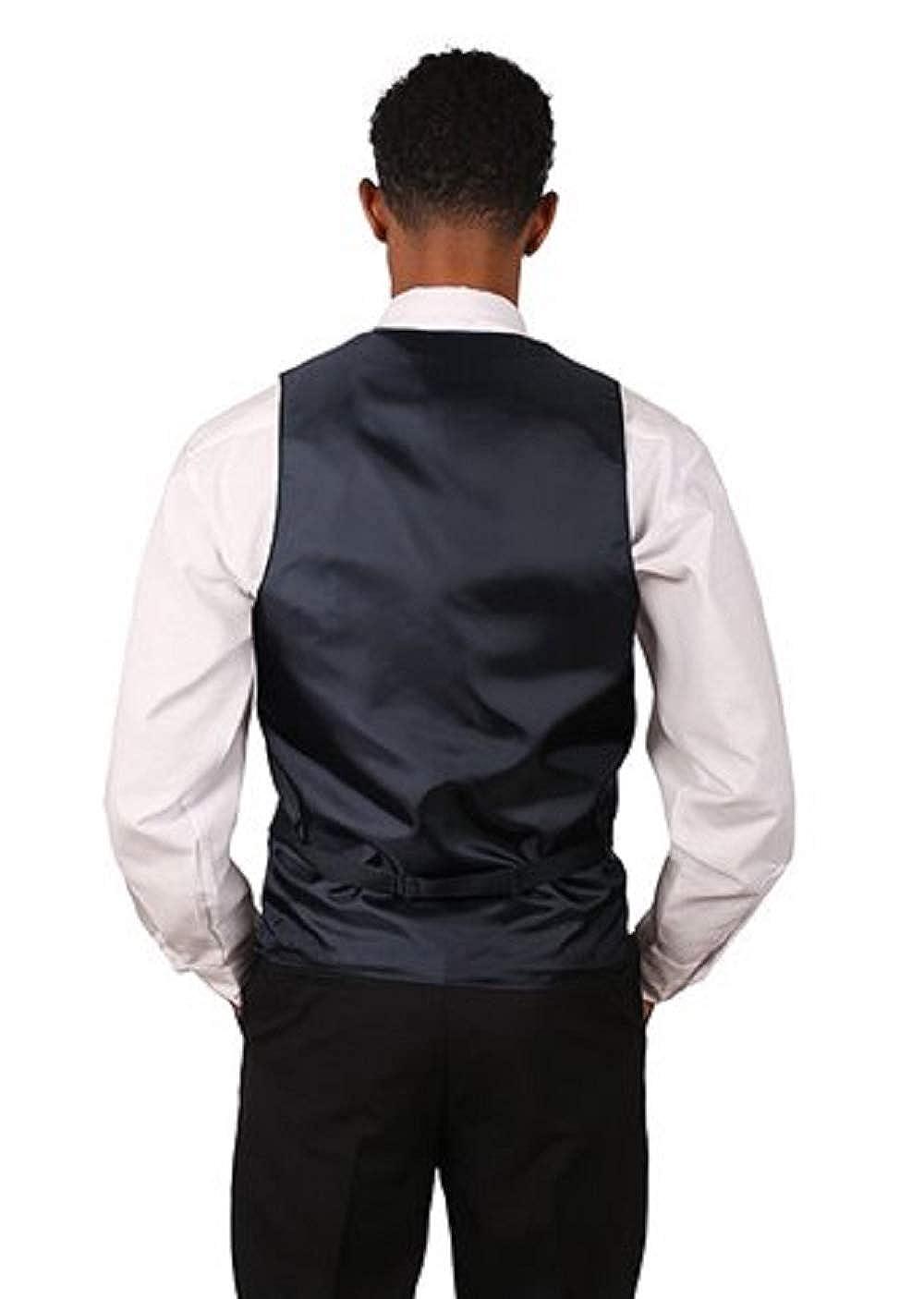 13 Color Variations Mens Formal Designer Business Suit Paisley Pattern Jacquard Vest and Black Bow Tie Set