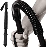 EMVANV 20KG Arm Rod Spring Exerciser, Professional Power Twiste-r Flexible Stretch Arm and Chest Exercises Arm
