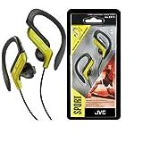 Best Clip On Headphones - JVC HAEB75Y Sports Clip Headphone, Yellow Review