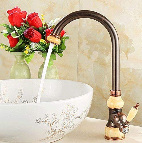 B Ywqwdae Kitchen Tap Bath Basin Bathroom Sink Mixer Tap Bath Faucet Antique Copper Hot and Cold A (color   B)