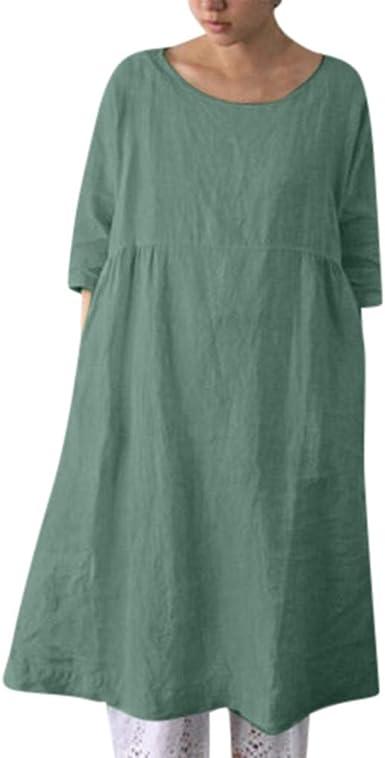 Berimaterry Mujer Verano Damas de Vestir Vestido de Talla Grande ...