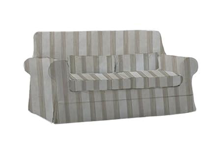 Sensational Herzers Slipcover Fits For Ikea Vingaker Sofa Stripes Beige Cjindustries Chair Design For Home Cjindustriesco
