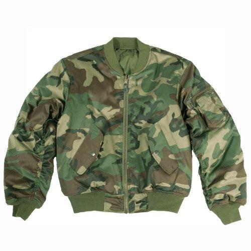 Coated Twill Jacket (Mil-Tec MA-1 Flight Jacket Woodland size XL)