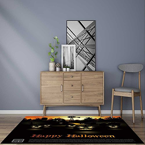 Durable Rug Haunted farmhouse in the woods Halloween poster