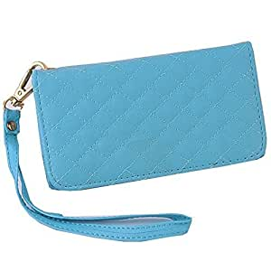 HYHY - Wallet Handbag Leather Case Cover With Credit Card Holder/Wristlet For Motorola Droid X Color,Blue