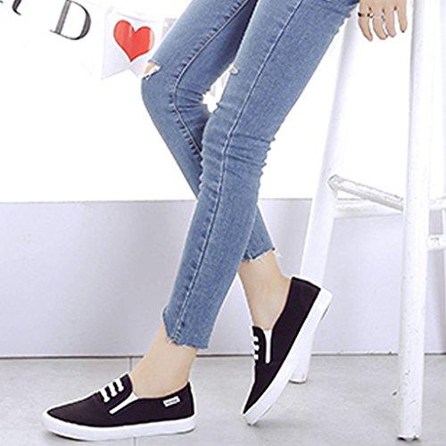 stile Color coreano basse scarpe donna da di da Espadrillas scarpe in tela uomo YaNanHome Scarpe Black casuali 37 Bianca Size casuali Scarpe da donna Of6pwWqH