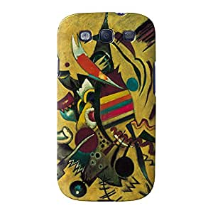 Puntos de Kandinsky Full Wrap Case Impreso en 3d gran calidad, Snap-on Cover para Samsung Galaxy S3pintando obras maestras