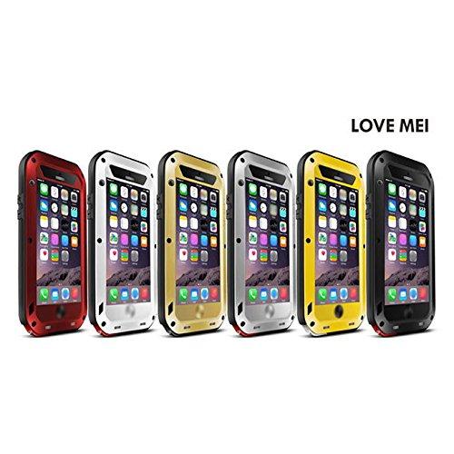 LoveMei Schutzhülle, wasserdicht, stoßfest, staubdicht, Metall Aluminium für iPhone 6, goldfarben