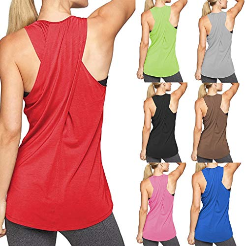 Workout Tops for Women,Exercise Gym Yoga Tops Cross Back Running Shirts Sleeveless Tank Tops