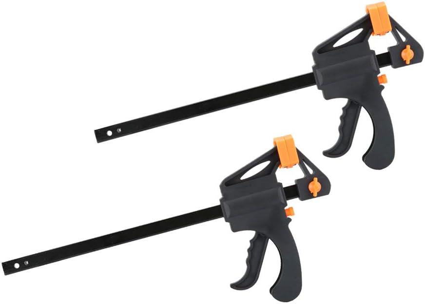morsetti regolabili per barra 20 cm presa rapida e sbloccaggio a cricchetto kit di utensili fai-da-te per la lavorazione del legno Set 2 manubri Nuzamas in plastica da 8 pollici