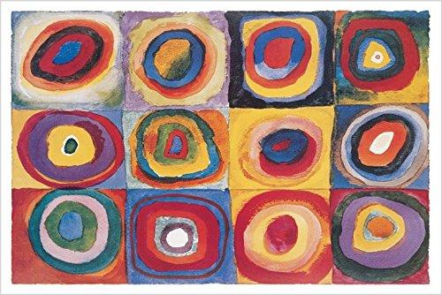 Color Study Squares  by Wassily Kandinsky 36x24 Art Print Po
