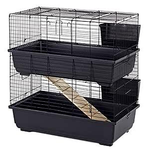 Classic Tod 100 doble de ancho Bar jaula para conejos 100 x 50 x ...