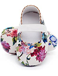 Print Flower Baby Girls Ballet Princess Dress Shoes Mary Jane Toddler Shoes Flats Baby Sandals