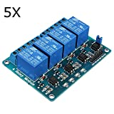 QOJA 5pcs geekcreitu00ae 5v 4 channel relay module for arduino